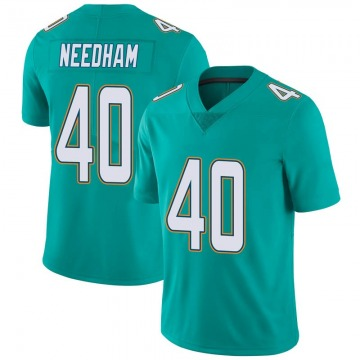Youth Nike Miami Dolphins Nik Needham Aqua Team Color Vapor Untouchable Jersey - Limited