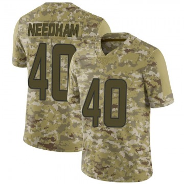 Youth Nike Miami Dolphins Nik Needham Camo 2018 Salute to Service Jersey - Limited