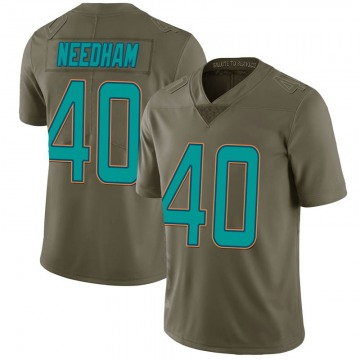 Youth Nike Miami Dolphins Nik Needham Green 2017 Salute to Service Jersey - Limited