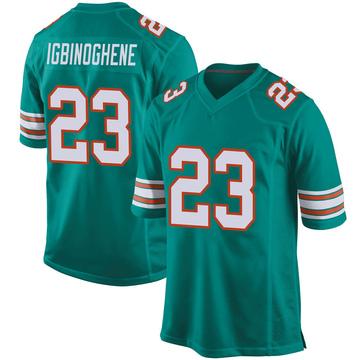 Youth Nike Miami Dolphins Noah Igbinoghene Aqua Alternate Jersey - Game