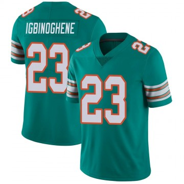 Youth Nike Miami Dolphins Noah Igbinoghene Aqua Alternate Vapor Untouchable Jersey - Limited