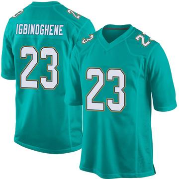 Youth Nike Miami Dolphins Noah Igbinoghene Aqua Team Color Jersey - Game