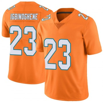 Youth Nike Miami Dolphins Noah Igbinoghene Orange Color Rush Jersey - Limited
