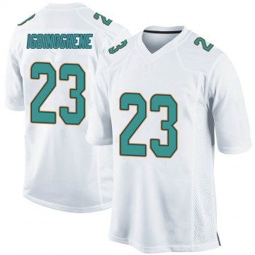 Youth Nike Miami Dolphins Noah Igbinoghene White Jersey - Game