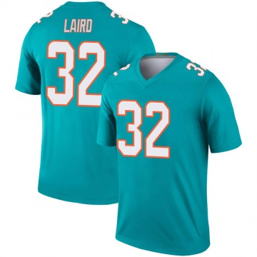 Youth Nike Miami Dolphins Patrick Laird Aqua Jersey - Legend