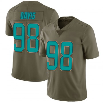 Youth Nike Miami Dolphins Raekwon Davis Green 2017 Salute to Service Jersey - Limited