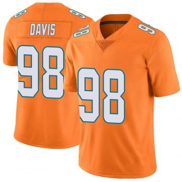 Youth Nike Miami Dolphins Raekwon Davis Orange Color Rush Jersey - Limited