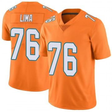 Youth Nike Miami Dolphins Ray Lima Orange Color Rush Jersey - Limited