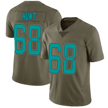 Youth Nike Miami Dolphins Robert Hunt Green 2017 Salute to Service Jersey - Limited