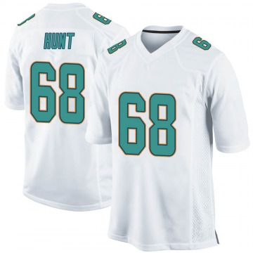 Youth Nike Miami Dolphins Robert Hunt White Jersey - Game