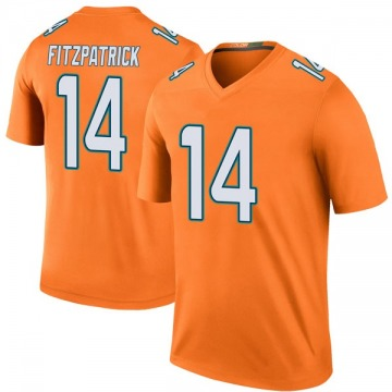 Youth Nike Miami Dolphins Ryan Fitzpatrick Orange Color Rush Jersey - Legend