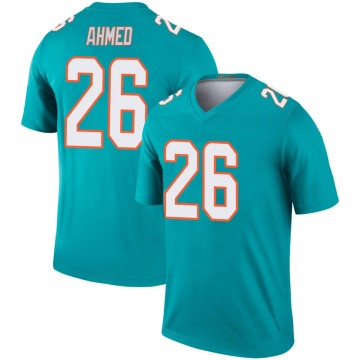 Youth Nike Miami Dolphins Salvon Ahmed Aqua Jersey - Legend