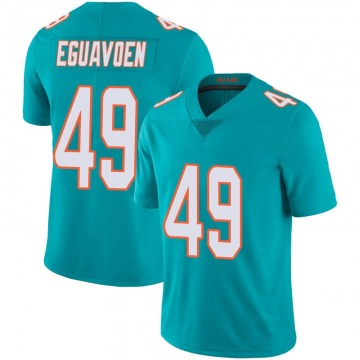 Youth Nike Miami Dolphins Sam Eguavoen Aqua Team Color 100th Vapor Untouchable Jersey - Limited
