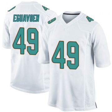 Youth Nike Miami Dolphins Sam Eguavoen White Jersey - Game