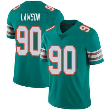 Youth Nike Miami Dolphins Shaq Lawson Aqua Alternate Vapor Untouchable Jersey - Limited
