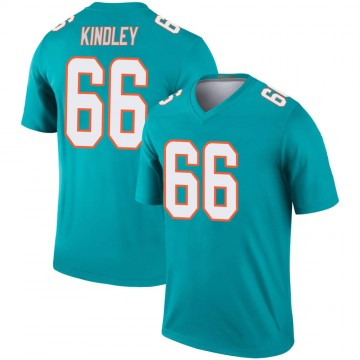 Youth Nike Miami Dolphins Solomon Kindley Aqua Jersey - Legend