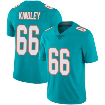 Youth Nike Miami Dolphins Solomon Kindley Aqua Team Color 100th Vapor Untouchable Jersey - Limited