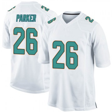 Youth Nike Miami Dolphins Steven Parker White Jersey - Game