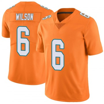 Youth Nike Miami Dolphins Stone Wilson Orange Color Rush Jersey - Limited