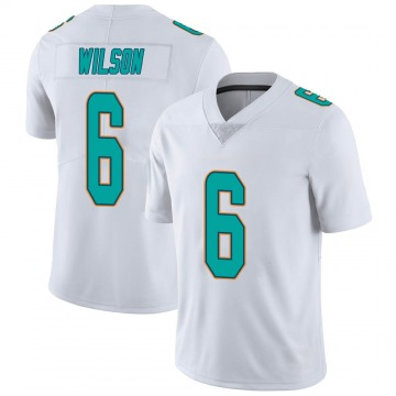 Youth Nike Miami Dolphins Stone Wilson White limited Vapor Untouchable Jersey -