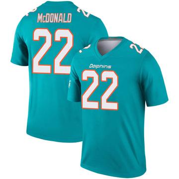 Youth Nike Miami Dolphins T.J. McDonald Aqua Inverted Jersey - Legend