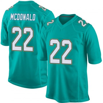 Youth Nike Miami Dolphins T.J. McDonald Aqua Team Color Jersey - Game