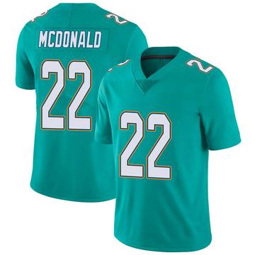 Youth Nike Miami Dolphins T.J. McDonald Aqua Team Color Vapor Untouchable Jersey - Limited