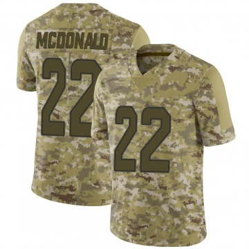 Youth Nike Miami Dolphins T.J. McDonald Camo 2018 Salute to Service Jersey - Limited