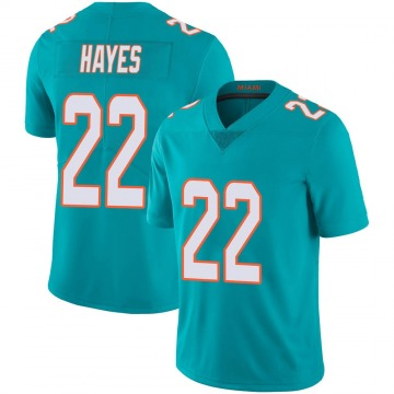 Youth Nike Miami Dolphins Tae Hayes Aqua Team Color 100th Vapor Untouchable Jersey - Limited