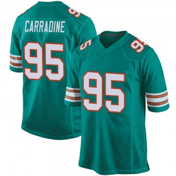 Youth Nike Miami Dolphins Tank Carradine Aqua Alternate Jersey - Game