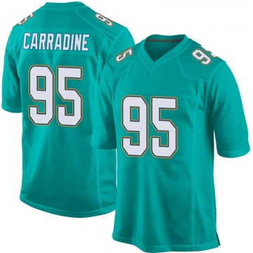 Youth Nike Miami Dolphins Tank Carradine Aqua Team Color Jersey - Game