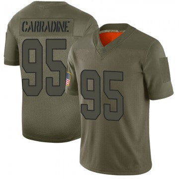 Youth Nike Miami Dolphins Tank Carradine Camo 2019 Salute to Service Jersey - Limited