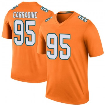 Youth Nike Miami Dolphins Tank Carradine Orange Color Rush Jersey - Legend