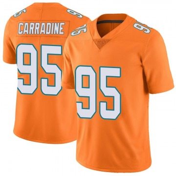 Youth Nike Miami Dolphins Tank Carradine Orange Color Rush Jersey - Limited