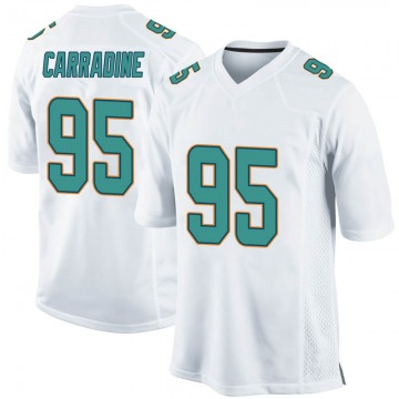 Youth Nike Miami Dolphins Tank Carradine White Jersey - Game