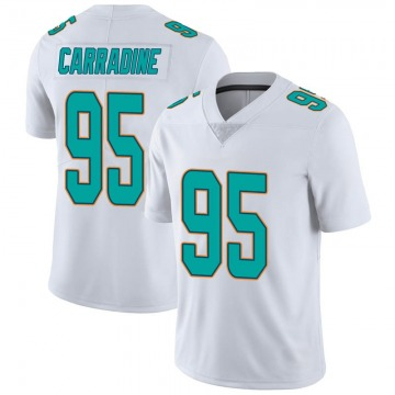 Youth Nike Miami Dolphins Tank Carradine White limited Vapor Untouchable Jersey -