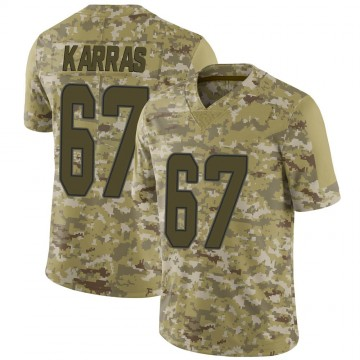 Youth Nike Miami Dolphins Ted Karras Camo 2018 Salute to Service Jersey - Limited