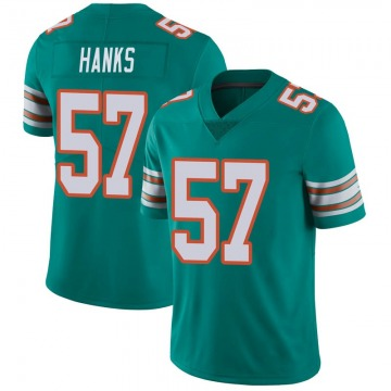 Youth Nike Miami Dolphins Terrill Hanks Aqua Alternate Vapor Untouchable Jersey - Limited