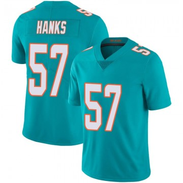 Youth Nike Miami Dolphins Terrill Hanks Aqua Team Color 100th Vapor Untouchable Jersey - Limited