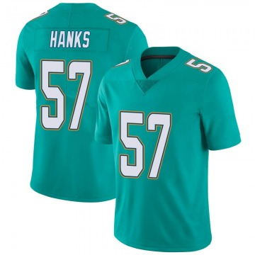 Youth Nike Miami Dolphins Terrill Hanks Aqua Team Color Vapor Untouchable Jersey - Limited