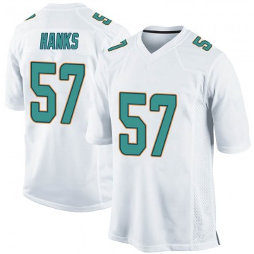 Youth Nike Miami Dolphins Terrill Hanks White Jersey - Game