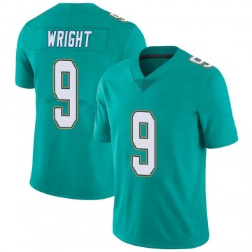 Youth Nike Miami Dolphins Terry Wright Aqua Team Color Vapor Untouchable Jersey - Limited