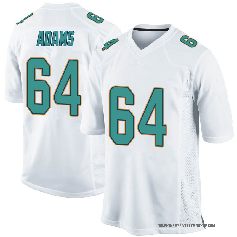 san francisco 854d3 6a2ec Youth Nike Miami Dolphins Tony Adams White Jersey - Game