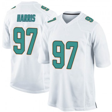 Youth Nike Miami Dolphins Trent Harris White Jersey - Game