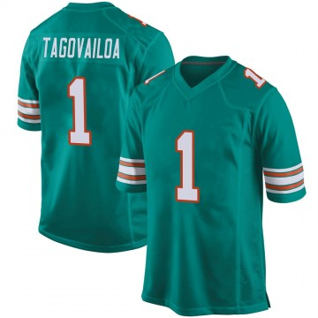 Youth Nike Miami Dolphins Tua Tagovailoa Aqua Alternate Jersey - Game