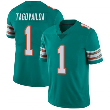 Youth Nike Miami Dolphins Tua Tagovailoa Aqua Alternate Vapor Untouchable Jersey - Limited