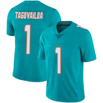 Youth Nike Miami Dolphins Tua Tagovailoa Aqua Team Color 100th Vapor Untouchable Jersey - Limited