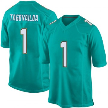 Youth Nike Miami Dolphins Tua Tagovailoa Aqua Team Color Jersey - Game