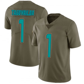Youth Nike Miami Dolphins Tua Tagovailoa Green 2017 Salute to Service Jersey - Limited