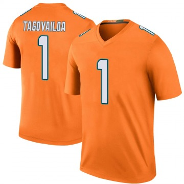 Youth Nike Miami Dolphins Tua Tagovailoa Orange Color Rush Jersey - Legend